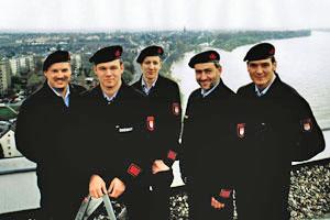 Langjährige Führungsmitglieder der Feuerwehr Zündorf im Jahr 1997